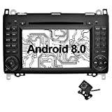 Ohok 7 Zoll Bildschirm 2 Din Autoradio Android 8.0.0 Oreo Octa mit Navi Moniceiver DVD GPS Navigation Unterstützt Bluetooth DAB+ für Mercedes-Benz A-Class/B-Class/Vito mit Klein-Rückfahrkamera