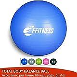 Total Body Balance Ball | swisse Ball (55 65 75 85 95 cm) | Palla Svizzera Grande per Yoga, Pilates, Palestra a casa, Fitness, Gravidanza, potenziamento, Ginnastica (Blu, 55 cm)