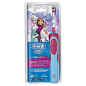 51wU%2BN7VY1L. SS300  - Oral-B Stages Power Kids - Cepillo de dientes eléctrico recargable