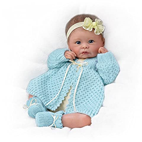 Ashton Drake 'Sweetly Snuggled' - Poseable Weighted Lifelike Baby Doll by Linda Murray - RealTouch Vinyl Skin