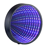 Chibuy Creative Mirror Tunnel Lamp, 3D Infinity Mirror Light Led Sign, Great Gift for Kids room/Party/Home Decorations