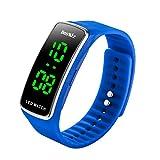 BesWLZ Unisex Kinder Digitaluhr Wasserdichte Sport Armbanduhr für Jungen Uhr Mädchen Kinderuhren (Black) (Black) (Blue)