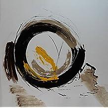 Angie Decoration Cycling Cuadro, Acrílico, Negro, 80x80 cm