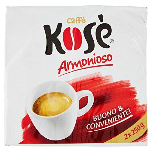 Kose' - Miscela Di Caffe' Torrefatto E Macinato - 10 confezioni da 2 pezzi da 250 g [20 pezzi, 5 kg]