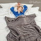 softan beschwerte Decke aus Plüsch, atmungsaktiv - für Erwachsene, Kinder, Grey-1pc,...