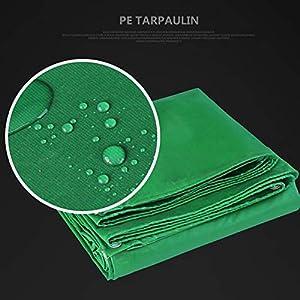 CZWYF Telo coprisedile Verde, Materiale Spesso Resistente, Impermeabile, Ideale per tettuccio in Tela Cerata, Barca, Camper o Copertura per Piscina (Telo Resistente in Poliuretano) (Size : 10x12m)