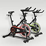JLL IC200 Indoor Cycling exercise bike, Fitness Cardio workout with adjustable resistance,10Kg flywheel which allows a smooth ride, Ergonomic adjustable handle bar and fully adjustable seat. 12 months warranty (Red & Black)