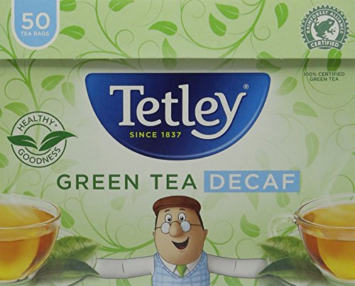 Tetley Decaf Green Tea, Pack of 6, 300 Tea Bags Total
