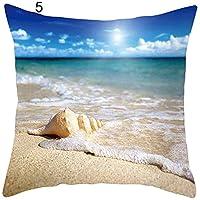 beiguoxia Summer Beach Seaside Style Pillowcase Home Decor Sofa Bed Chair Cushion Cover - 5#