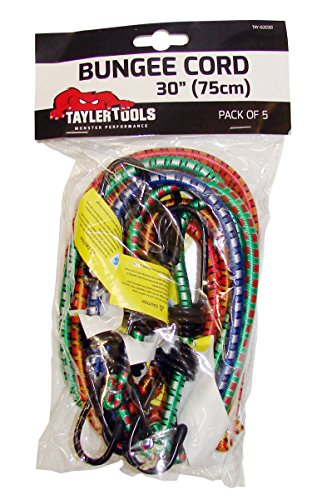 Taylor Tools TAY-62030 75cm/ 30-inch Heavy Duty Bungee Cord (Pack of 5)
