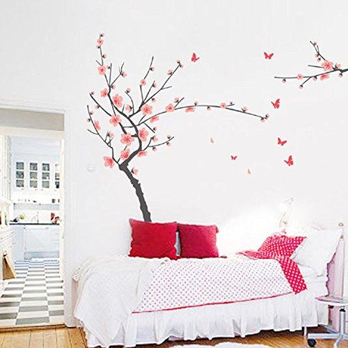 wallpark-hermosa-rosa-ciruela-flor-florecimiento-mariposa-desmontable-pegatinas-de-pared-etiqueta-de