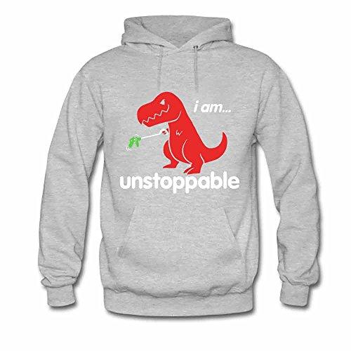 Womens Hooded Sweatshirt - Dinosaur I am Unstoppable Cotton Hoodies XL