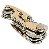 Schlüssel Organizer / Schlüsselhalter / Key Organizer Kompakt & Flach, Gold.
