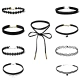 Best Necklaces 6 Piece - LUOEM 9 Pieces Classic Choker Necklace Set Stretch Review