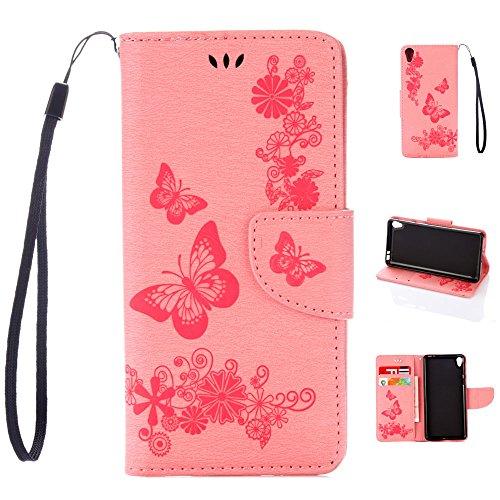 Für Sony Xperia E5 Tasche Ledertasche Kunstleder Brieftasche Hülle PU Leder Schutzhülle Case Cove