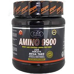 AMINO 9900   P&F PHARMA - 325 tabs - Aminoácidos esenciales masticables en tabletas