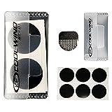 Selbstklebend klebefreien Patch Kit Reifen Schnelle Reparatur Dia. 25mm rund 5 Pack (30 Patches)