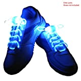Enem LED Light Up Shoelaces- High Visibility Flashing for Night Running Biking, Clubbing, Rave, Birthday, Disco, Hip-hop Dancing, and Dubstep Party-(01 Pair)-Blue