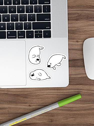 VINMEA Baby Harp Seal Stickers Sticker Window Vinyl Sticker for Cars, Trucks, Windows, Walls, Laptops (Longest Side 3