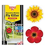 Zero In Decorative Window Fly Killer (Hygienic Floral Window Stickers, Controls Insects in The Home, Lasts up to 12 Weeks) - Twin Pack
