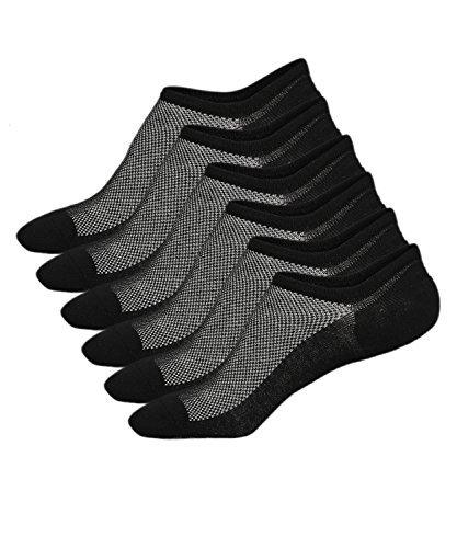 Ueither Calzini Uomo in cotone Taglio Basso Invisibili Casuale alla Caviglia Antiscivolo (Taglia di scarpe:38-43, Colore 5 (3 Coppie Nero))