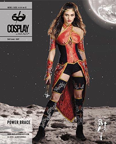 Cosplay von McCall 's M2102AX5Bandage Halfter Top Power/Überrock/Bein Armour und Arm Schnittmuster, mehrfarbig, Größen (Mccall's Costumes)
