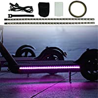 ‏‪Sumeier Colorful Led Strip Lights for Xiaomi M365 / M365 Pro Electric Scooter Accessories, Durable Foldable Light-Up Bottom Cover Plate Light (Black)‬‏