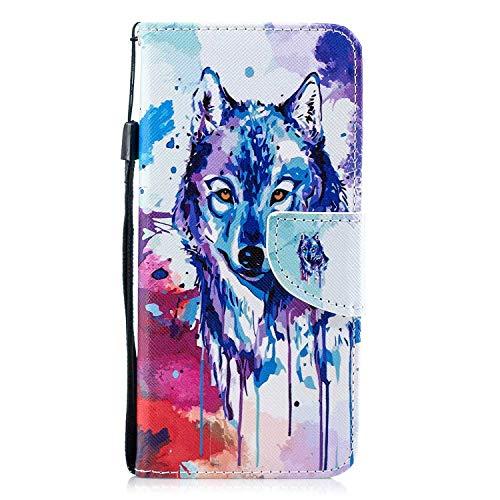 Galaxy S8 Hülle, The Grafu® Stoßfest Flip PU Leder Schutzhülle mit Handschlaufe, Standfunktion und Kartensfach für Samsung Galaxy S8, Wolf