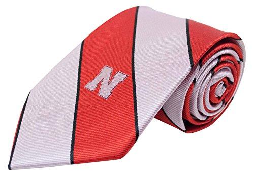 NCAA Nebraska Cornhuskers Traditionelles Streifenmuster Krawatte, rot, one size