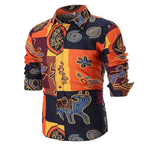 Blusa Superior de la Camisa de Manga Larga Delgada Ocasional del Verano de los Hombres de la Personalidad