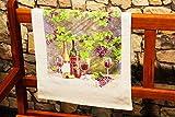 Kamaca 4 er Set Geschirrtücher Küchenhandtücherr Küchentuch Frottee 100% Baumwolle strapazierfähig Gute saugfähige Qualität waschbar (Wein - Liebhaber)