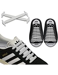JANIRO Elastische Silikon Schnürsenkel flach | 20 Stück flexible schleifenlose Schuhbänder ohne Binden | Kinder & Erwachsene