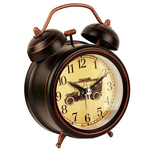 Limao Mute Alarm Clock Next To The Bed, Metal Alarm, Lazy Person, Super Voice, Night Surveillance, Night Lamp, Students Retro Clock, Figure 10