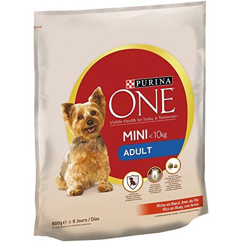 Purina ONE Mini Pienso Perro Adulto Buey Arroz 8 x