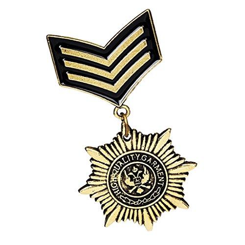 MagiDeal 1 Pieza Punky Pin Broche de Medalla de Uniforme Militar Gótica Bueno Regalo para Hombres