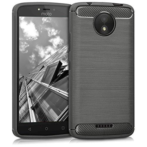 kwmobile Motorola Moto C Plus Hülle - Handyhülle für Motorola Moto C Plus - Handy Case in Anthrazit