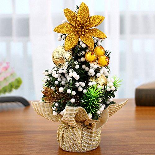 Decorazioni Natalizie Per Ufficio.Gosear Mini Natale Albero Tavolo Decorazione Natale Ornamento Decor Per Casa Ufficio Negozio Finestra Natale Partito Oro