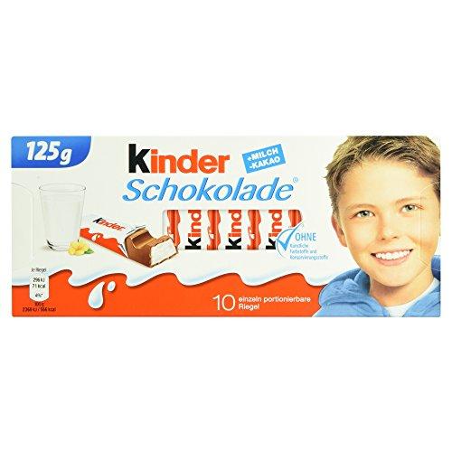 Kinder Schokolade 10 Riegel, 125 g
