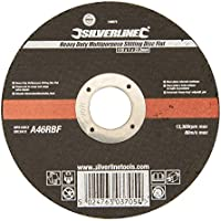 Silverline 103672 - Disco plano reforzado multiusos (115 x 1 x 22,23 mm)