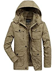 JIINN - Abrigo - chaqueta - para hombre