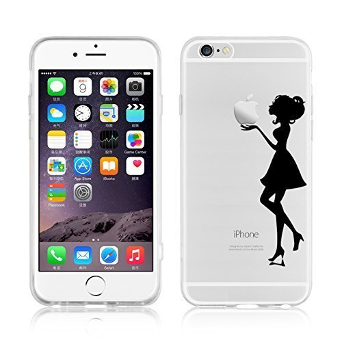 Darin Housse Coque Etui Gel Silicone Tpu Lisse Transparent Pour Apple iPhone 4S/5S/5C,Pour iPhone 6 4.7'' (Pour iPhone 5C, 4)
