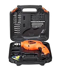 BLACK + DECKER HD400KA50 Impact Drill Kit (Pack of 50), Orange