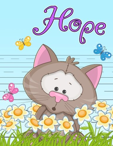 Hope: Personalized Book with Child's Name, Primary Writing Tablet for Kids, 65 Sheets of Practice Paper, 1