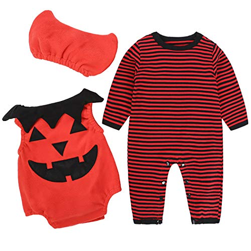 ZOYLINK 3 STÜCKE Baby Halloween Kostüm Set Mode Niedlichen Cosplay Party Kostüm Baby Kostüm