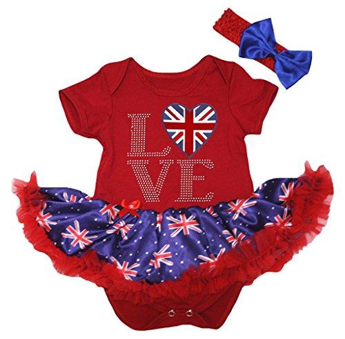 Petitebelle Baby Mädchen (0-24 Monate) Body blau rot Gr. L, rot