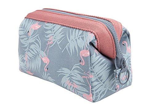 Make-up-Taschen, hoyofo Travel Kosmetiktaschen tragbar Tasche für die Bürste Tasche Make-up Toiletry Wash Bag Make Up Fall Tasche für Frauen Mädchen, Flamingo (Wash Bag Wochenende)