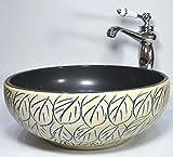 Modische Vintage Bad Garderobe Keramik Counter Waschbecken Spüle Schüssel