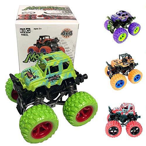 PowerBH Monster Truck Spielzeug Zurückziehen Spielen Fahrzeuge Reibung Powered Big Wheels Autos Modell Trägheit Auto Mini Spielzeug