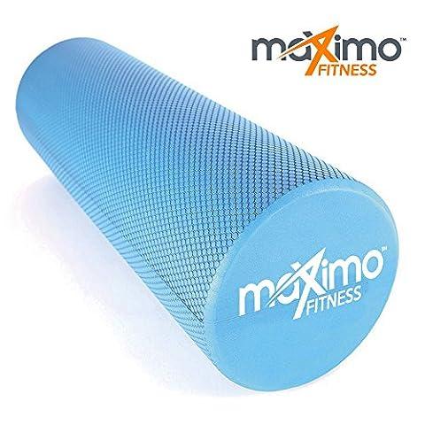 FOAM ROLLER - EVA - Superb Muscle Roller - Trigger Point - 15cm * 45cm - Perfect for Gym, Pilates, Yoga - FREE Quick Start Guide - Lifetime Warranty