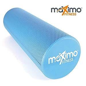 FOAM ROLLER - EVA - 15cm * 45cm - Leggero - Trigger Point - Fornisce confortevole Massaggio Muscolare - Istruzioni in Italiano - Perfetto per la Palestra, il Pilates, lo Yoga - Garanzia a Vita. (Blue)